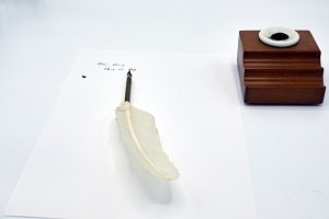 Feather Pen and inkwell i