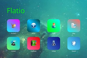 Flatio iOS Inspired WordPress Theme