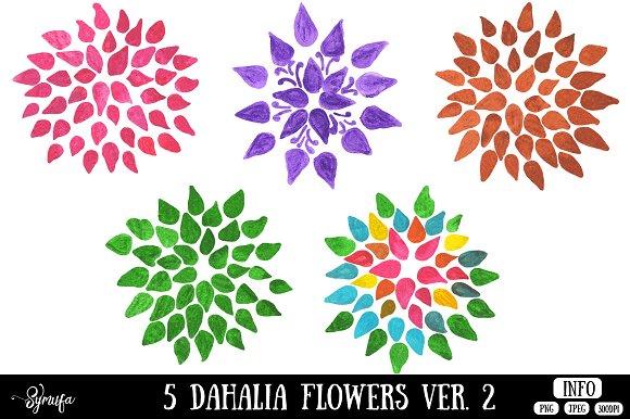 Dahlia Flower Clip Art Ver 2