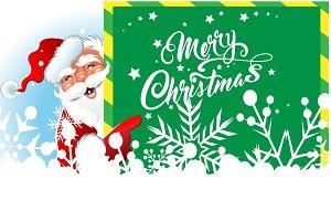 Christmas Santa, Christmas text