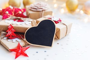 Christmas heart chalkboard