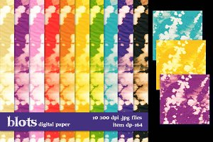 Blots textured digital paper