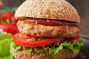 Sandwich with chicken burger