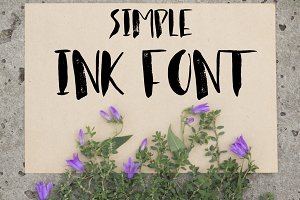 Simple ink font