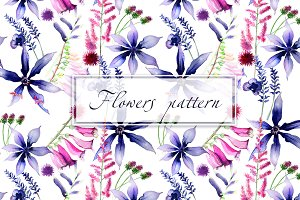 Flowers pattern seamless