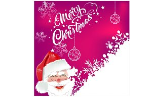 Christmas Card Santa Claus. Vector