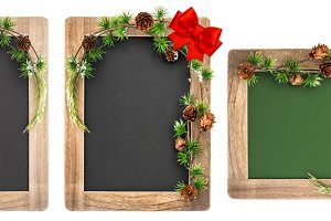 Chalkboard Christmas decoration