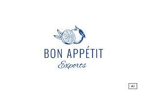 Bon Appétit Vintage Logo Template