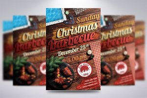 Christmas BBQ Flyer