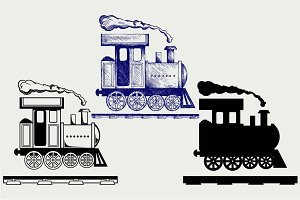 Toy train SVG