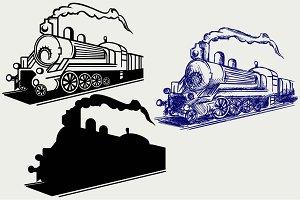 Vintage train SVG