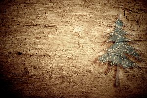 Christmas wooden background. Blank