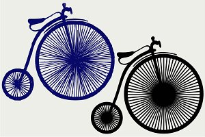 Penny farthing SVG