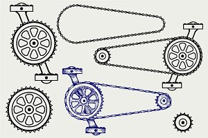 Set chain gears SVG