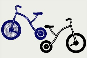 Tricycle bike child SVG