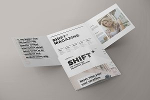 Tri-Fold Square Brochure Mock-up