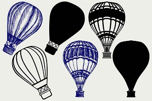 Hot air balloon SVG