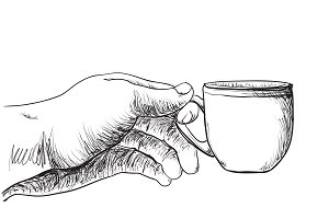Hot drink in the hand