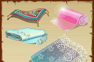 Various rich tissue, oriental motifs