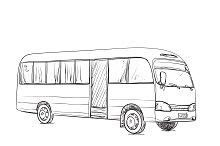 Transport for travel. Bus sketch