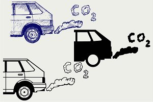 Car's fumes emissions SVG DXF