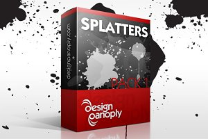 Paint Splatter Vector Pack 1
