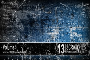 13 Grunge brushes for photoshop vol1