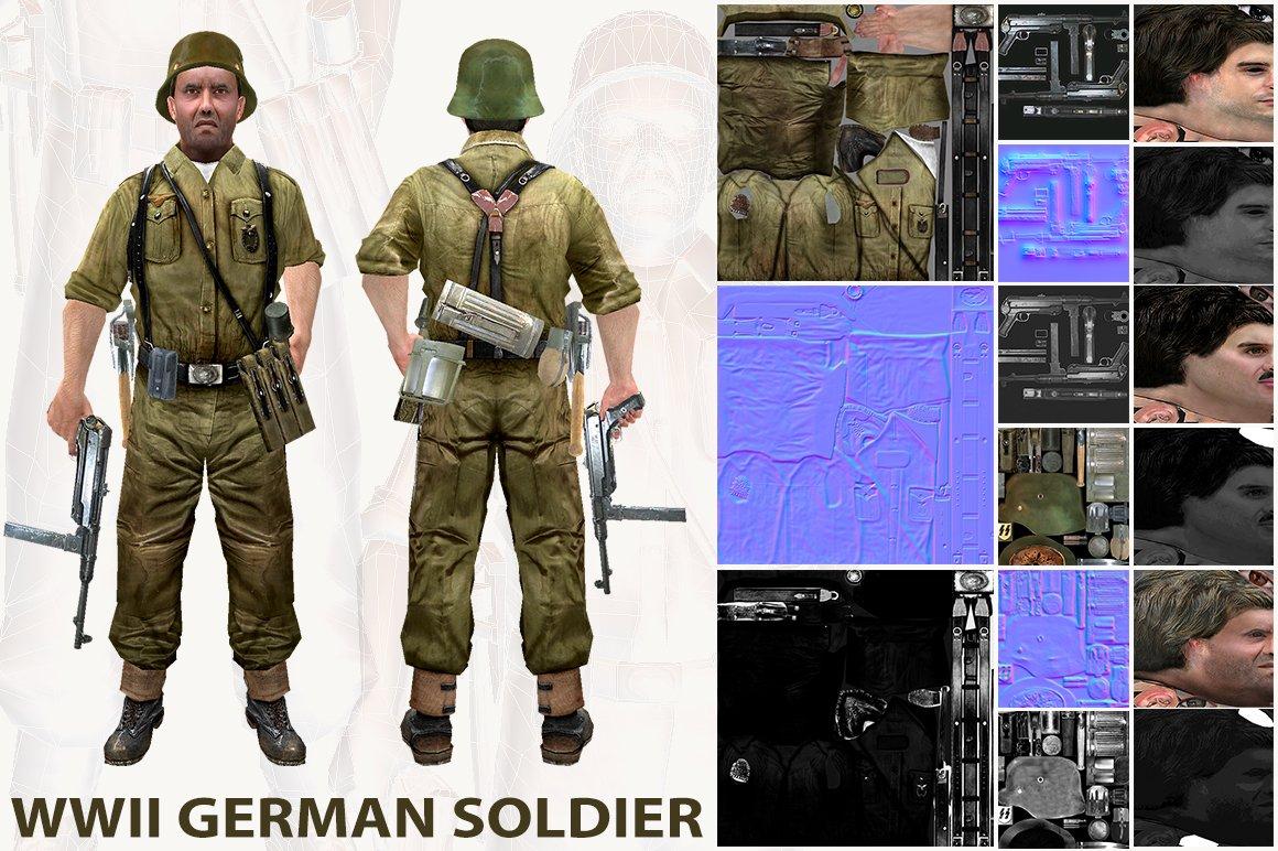 WWII German Soldier ~ People Models ~ Creative Market