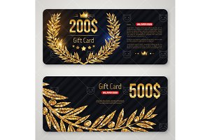 Gift cards with olive branch
