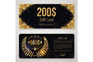 Gift cards with gold