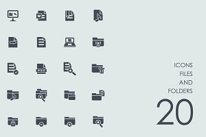 Files and folders icons
