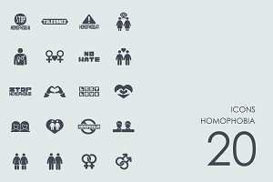 Homophobia icons