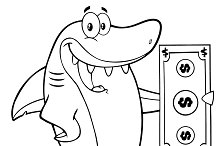 Black And White Happy Shark