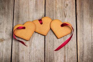 Gingerbread hearts for Valentine Day