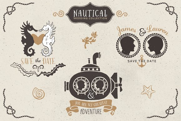 Nautical Romantic Vector Pack Illustrations Creative Market
