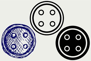 Collection sewing button SVG