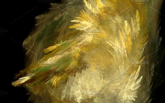 Gold Yellow Fur Explosion Abstract Background