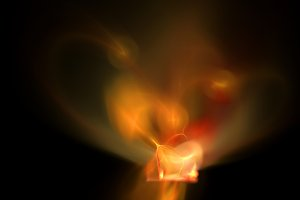 Red flame abstract background