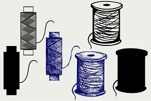 Threads for sewing SVG