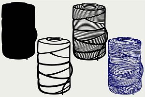 Roll of twine cord SVG