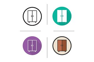 Wardrobe. 4 icons. Vector