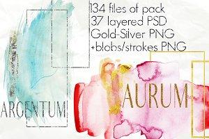 ARGENTUM & AURUM|water & geometric