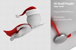 3D Small People - Super Santa