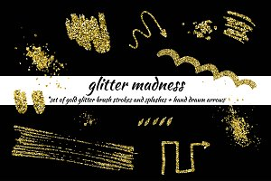 Glitter madness-set of gold elements