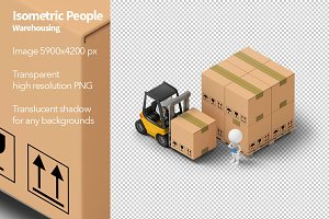 Isometric People - Warehousing