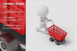 Isometric People - Cart
