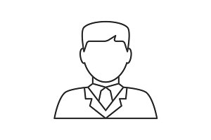 Lawyer avatar line icon