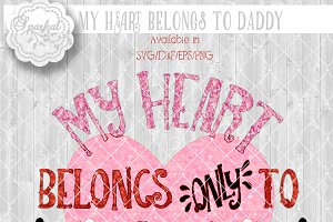 My Heart Belongs To Daddy ~ Cut file
