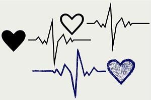 Heartbeat symbol SVG