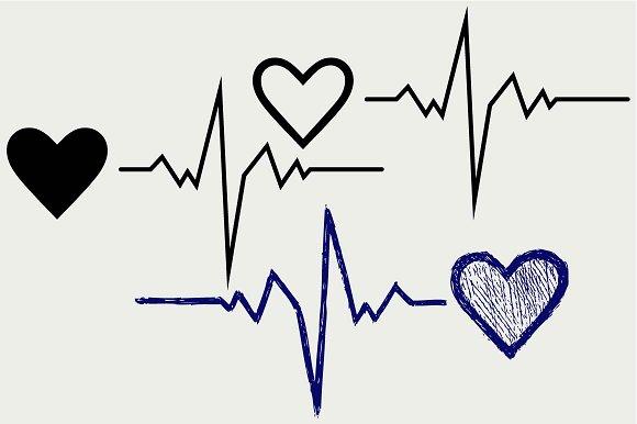 Heartbeat Symbol SVG DXF